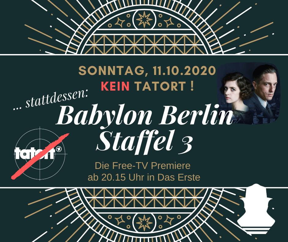 Babylon Berlin Staffel 3 Die Free Tv Premiere